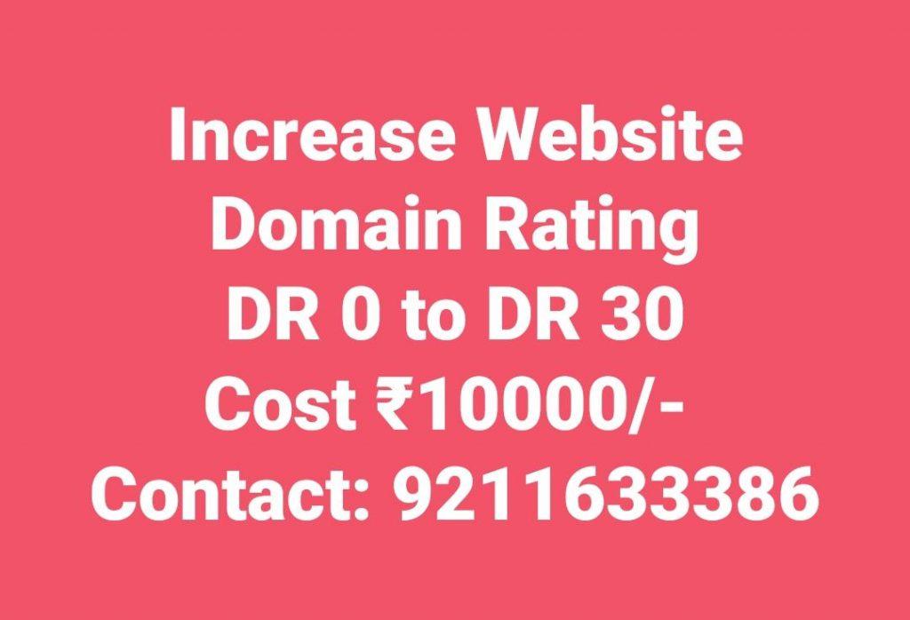 Increase Website Domain Rating